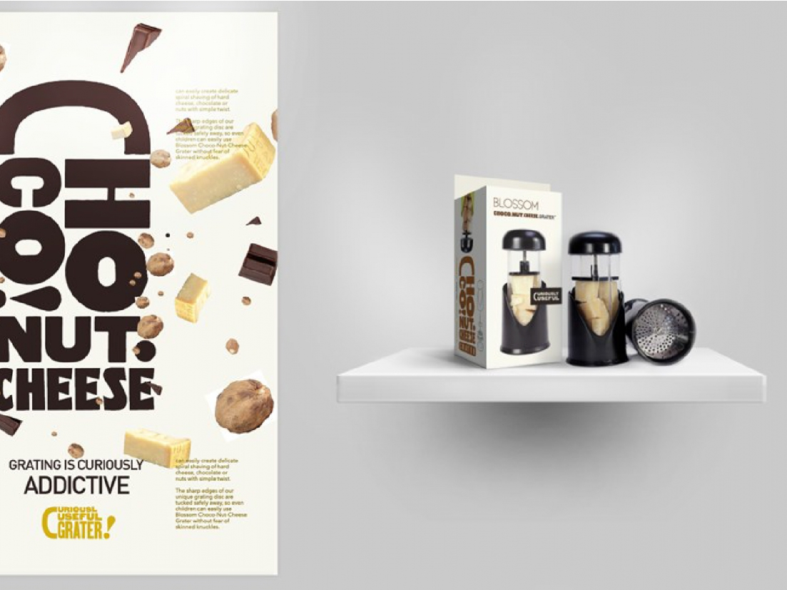 Choco Nut Cheese Grater Product Identity and Packaging Design